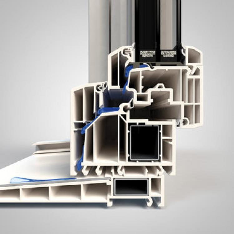 La guarnizione mediana dei serramenti Finstral in PVC previene l'ingresso di acqua e umidità - Serramenti Torino