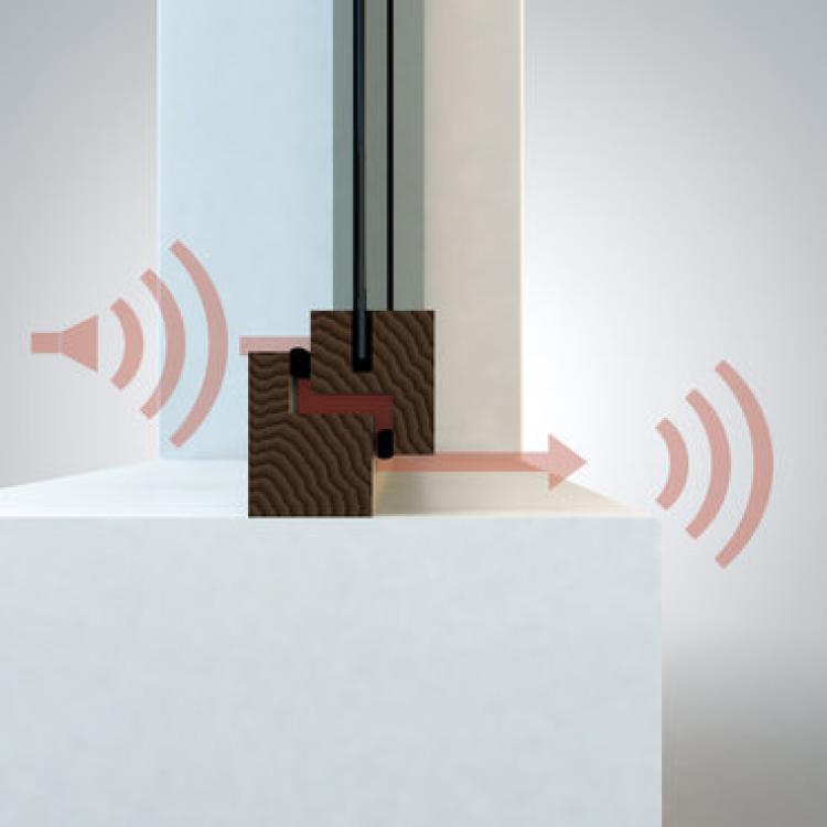 Le finestre Finstral garantiscono una tenuta ermetica, efficace barriera anche per il suono, grazie alla guarnizione mediana di serie e alle funzionalità della ferramenta - Serramenti Torino