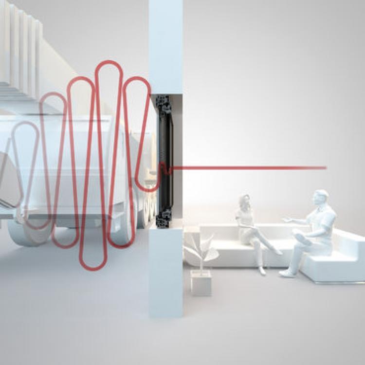 Twin-line è la finestra accoppiata Finstral che chiude fuori il rumore: offre le migliori prestazioni di isolamento acustico grazie alla lastra di vetro supplementare inserita nell'anta esterna - Serramenti Torino