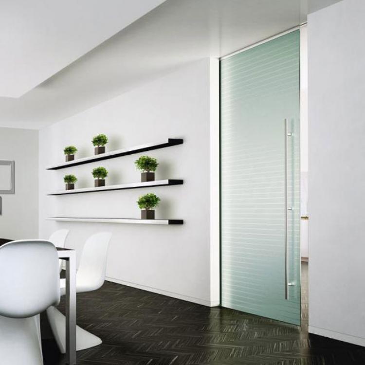 Porta scorrevole a scomparsa in vetro Vitra- Henry Glass - Serramenti Torino