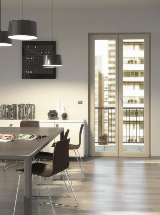 City è un serramento Navello in legno-alluminio che scompare per lasciare spazio al vetro. - Serramenti Torino