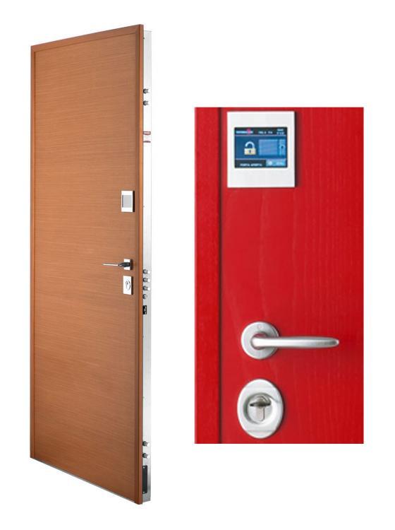 La porta blindata Classe 4 Gold Plus X-Touch di Torterolo & Re ha una struttura in doppia lamiera con inserto in acciaio temperato antitaglio. - Serramenti Torino